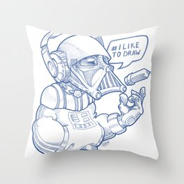 i Like To Draw Throw Pillow