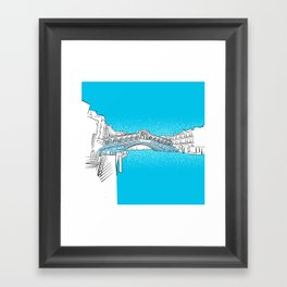 Venice Rialto Bridge Framed Art Print