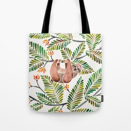 Happy Sloth – Tropical Green Rainforest Tote Bag