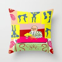 matisse Throw Pillows featuring matisse at work by ALDO AAB