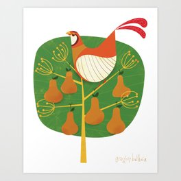 First Day of Christmas Art Print