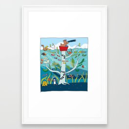 going to sea Framed Art Print