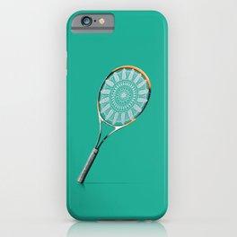 Playing tennis like a grandma iPhone Case