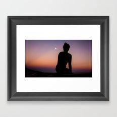 Eastern Moonrise Framed Art Print