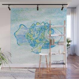 Fish paitning Wall Mural
