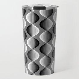 Abstract geometric grayscale pattern  Travel Mug