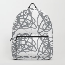 Curvy1Print Grey and White Backpack