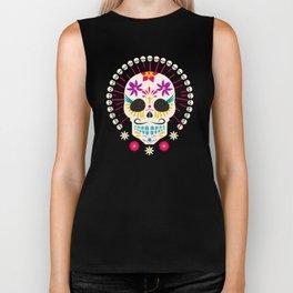 Dios De Los Muertos Day of the Dead Sugar Skull Fiesta Biker Tank
