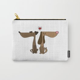 Dog Couple Love Dackel Dachshund Present Gift Carry-All Pouch