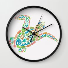 Surf Turtle Wall Clock