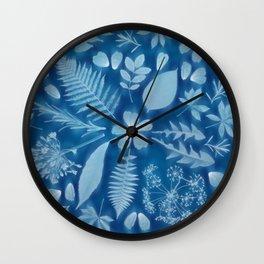Indigo Solar Print Wall Clock