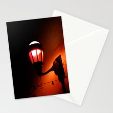 Red Streetlight Stationery Cards