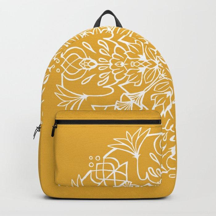 Lotus Mandala - Sunny Yellow Backpack