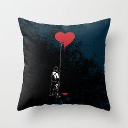 Heart Painter Graffiti Love Throw Pillow