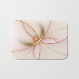 Nobly In Gold And Copper, Fractal Art Bath Mat
