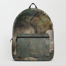 Baby Blue Eyes Collage Backpack