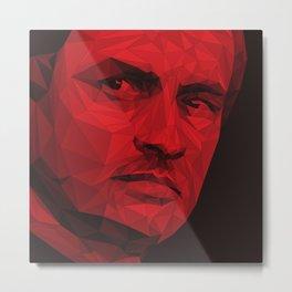 Jose Mourinho / Manchester United – Poly Metal Print