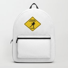 Cross Country Skiing Zone Road Sign Backpack