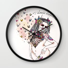I Choose Happiness Wall Clock
