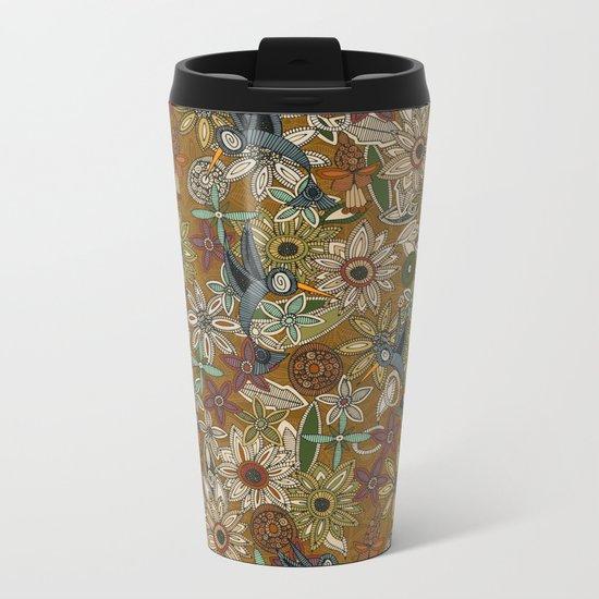 nectar bird garden gold Metal Travel Mug