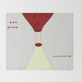 Red Wine or Martini Throw Blanket