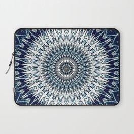 Indigo Navy White Mandala Design Laptop Sleeve