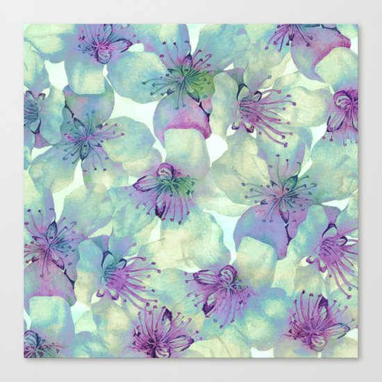 soft floral with purple Canvas Print