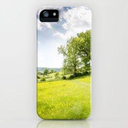 Idyllic Cotswold Summer Landscape iPhone Case