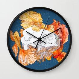 Cat dreams Wall Clock