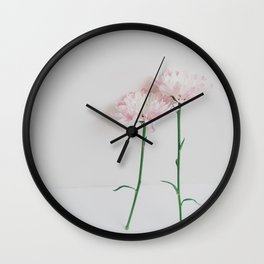 Couple Pink Dasies Wall Clock
