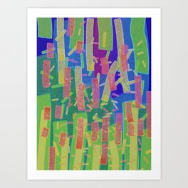 Stripes and Bars Art Print
