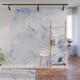 Modern abstract navy blue lavender watercolor Wall Mural