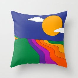 Rolling Hills Throw Pillow