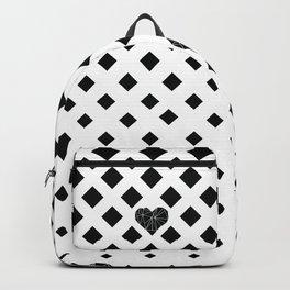Geometric heart 2a Backpack