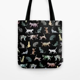 Cats shaped Marble - Black Tote Bag