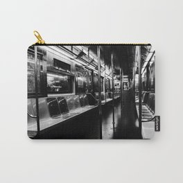 Empty NYC Subway Car Carry-All Pouch