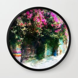 Lost in Yaffo Wall Clock