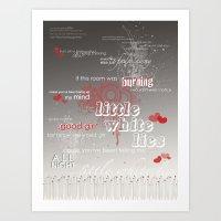 little white lies Art Print