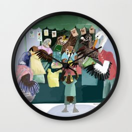A day in the market Wall Clock