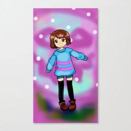 Chibi Frisk Canvas Print