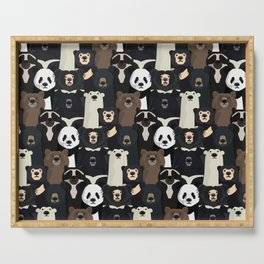 Bears of the world pattern Serving Tray