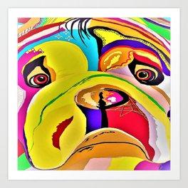 Bulldog Close-up Art Print