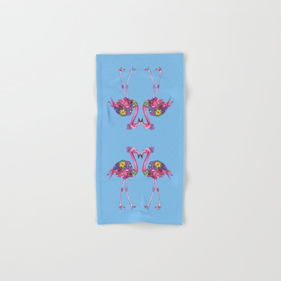 Fancy Felicity Flamingo (Blue) Hand & Bath Towel