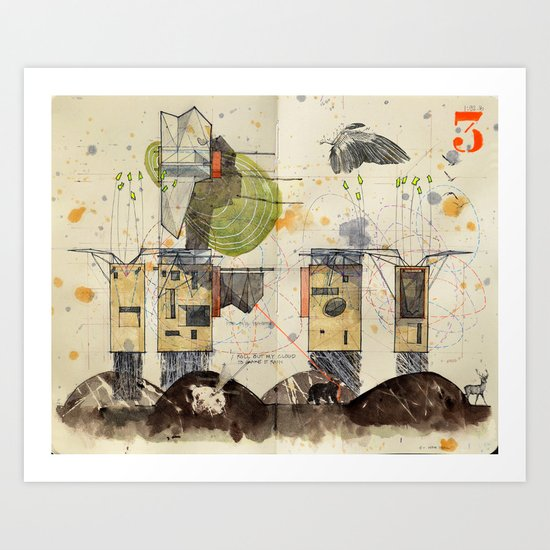 Domicile 03_New Year Moon Art Print