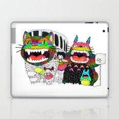 Totoro fan art (cat bus) by Luna Portnoi Laptop & iPad Skin