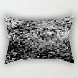 Black  & White Pixels Rectangular Pillow