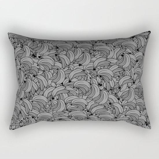 Plenty of Bananas - Gray Rectangular Pillow