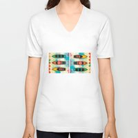 boats V-neck T-shirts featuring the boats by Julia Tomova