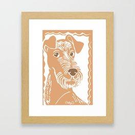 Irish Terrier Printmaking Art Framed Art Print