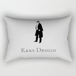 Keks Design Simple Grey Rectangular Pillow